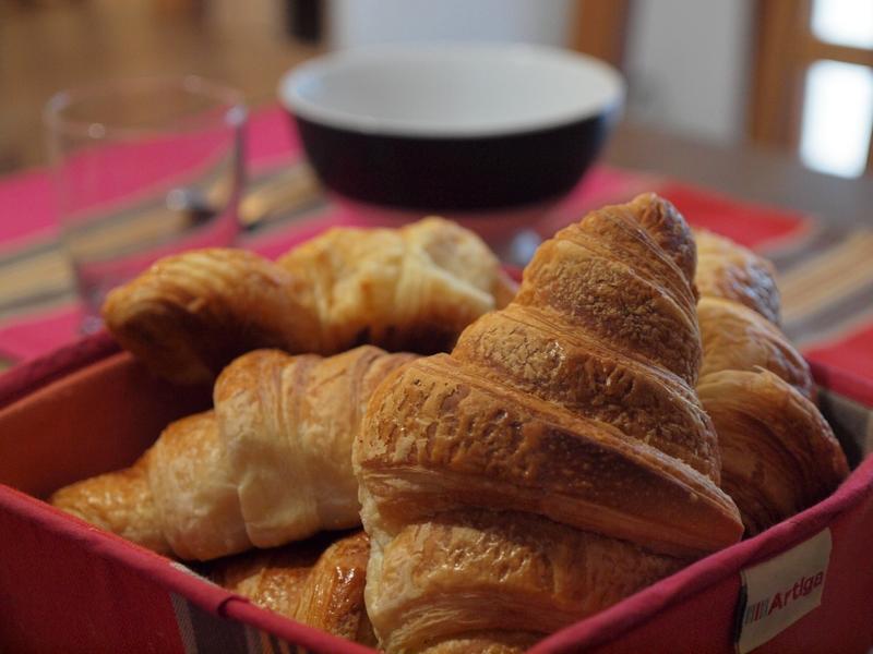 Croissant petit déjeuner