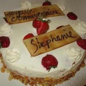 gateau anniversaire Pâtisserie Lominé à Neuvic